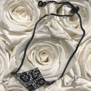 Jewelry - Titanium and leopard adjustable glam bracelet